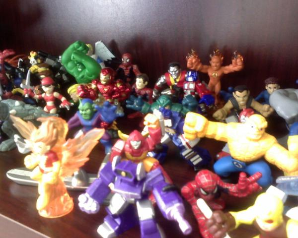 Marvel and Transformers figures
