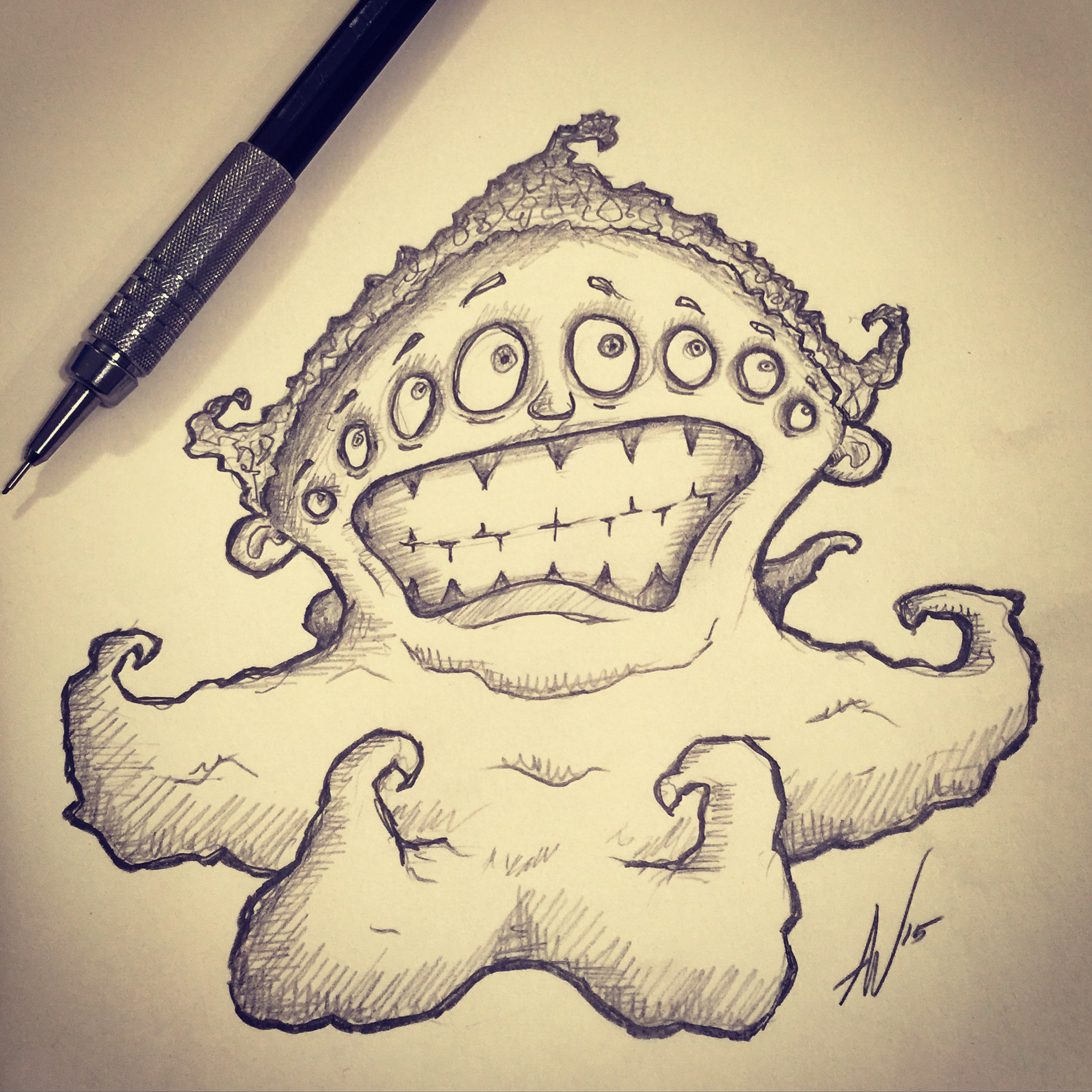 Sea Monster with Tentacles