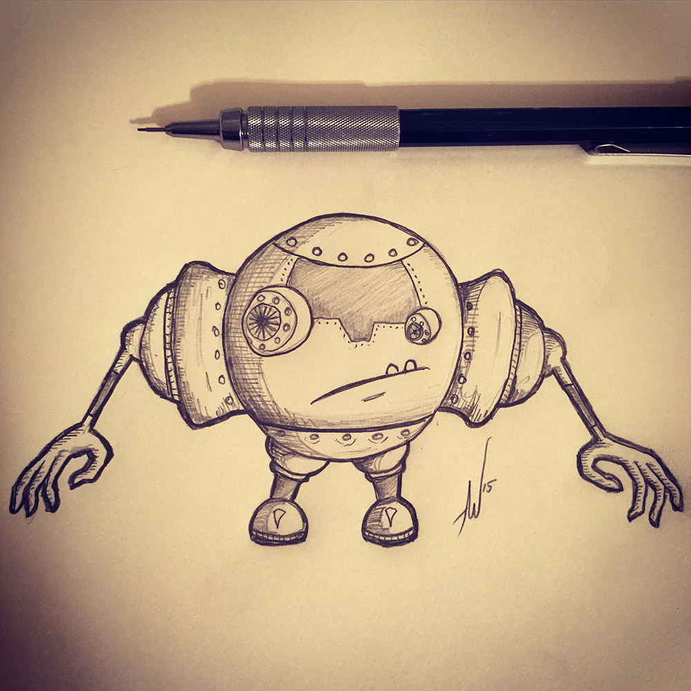 Can't go wrong drawing a robot!