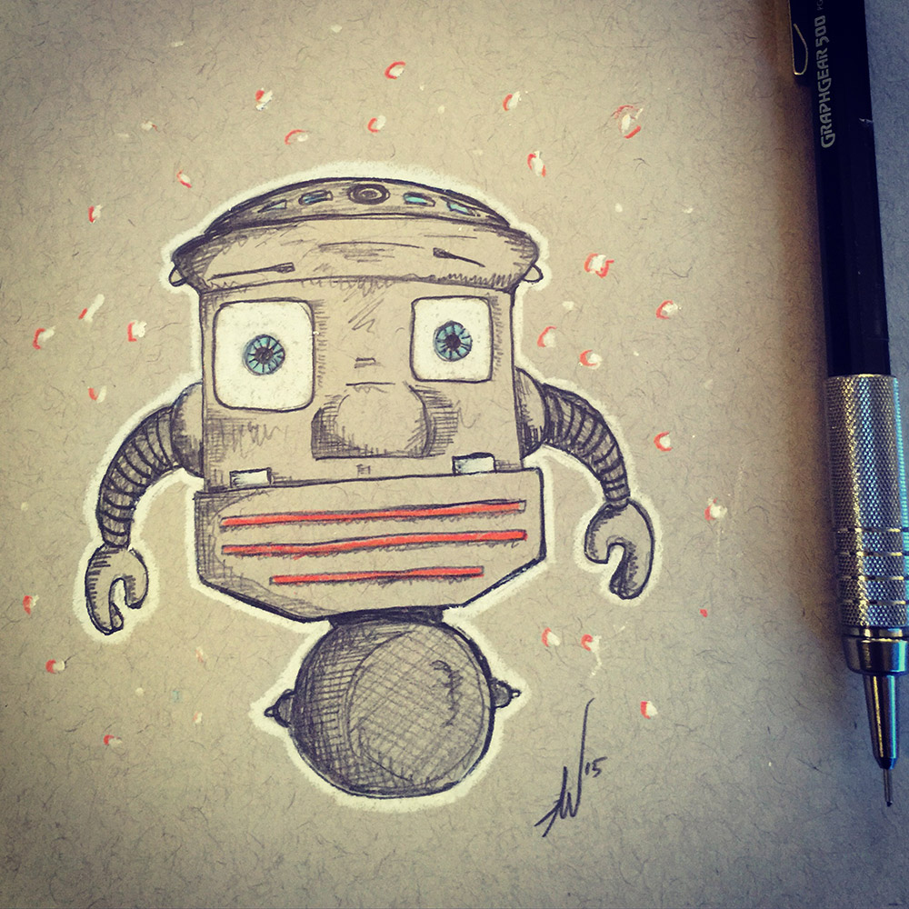 Safe Bet With A Robot Drawing