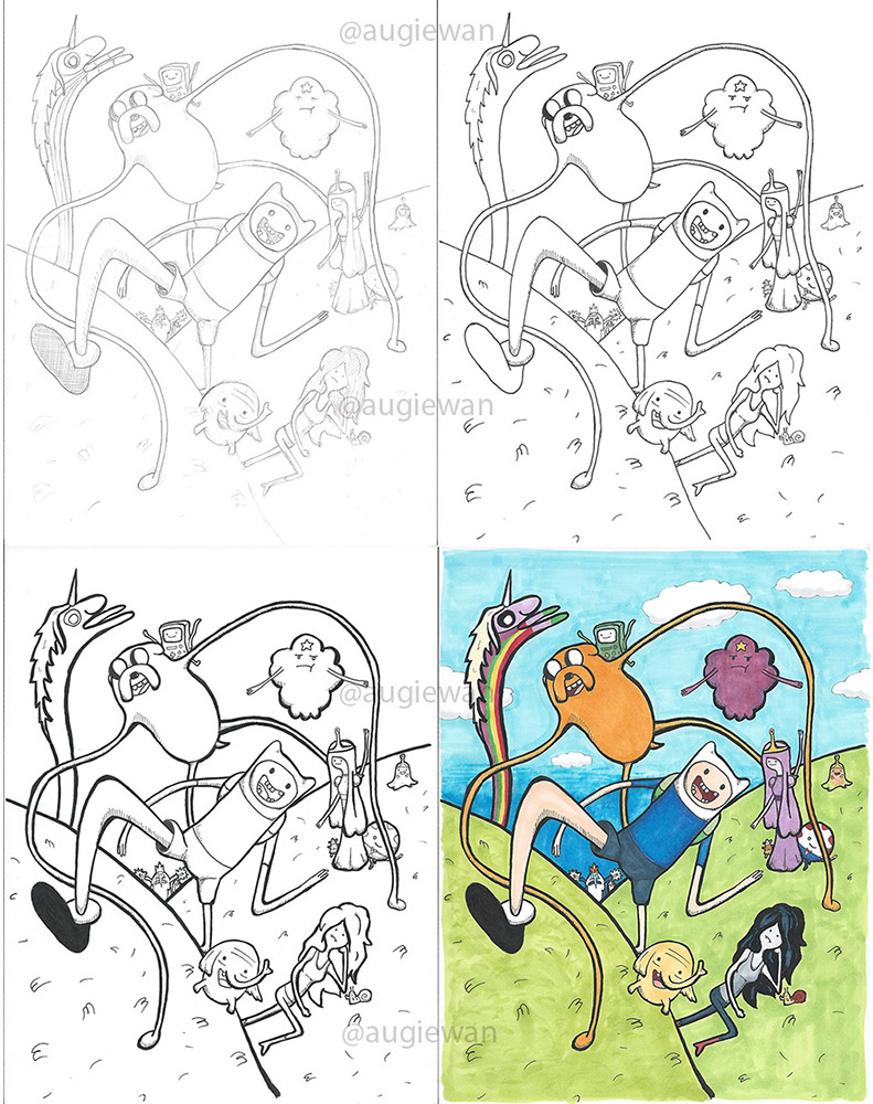 Drawing Process - Adventures in Ooo