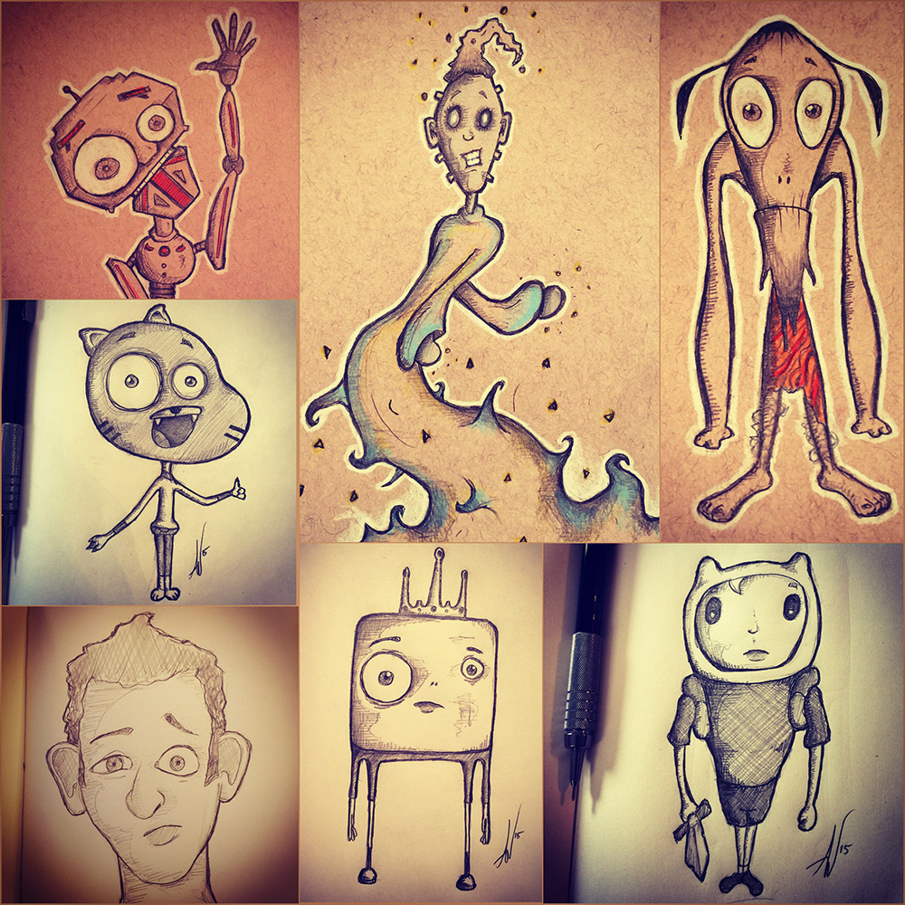 Aliens, Creatures, Finn, Gumball and a robot!