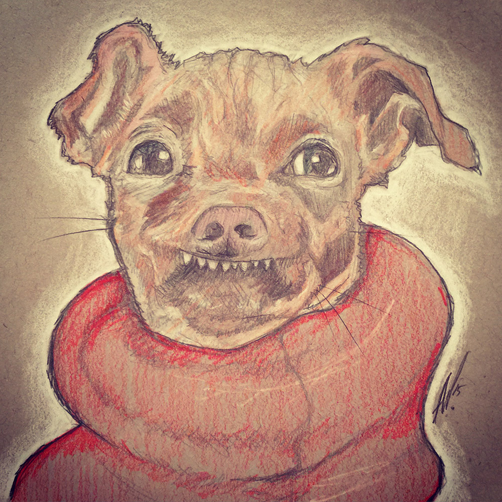 Tuna The Dog Gets The Sketch Treatment