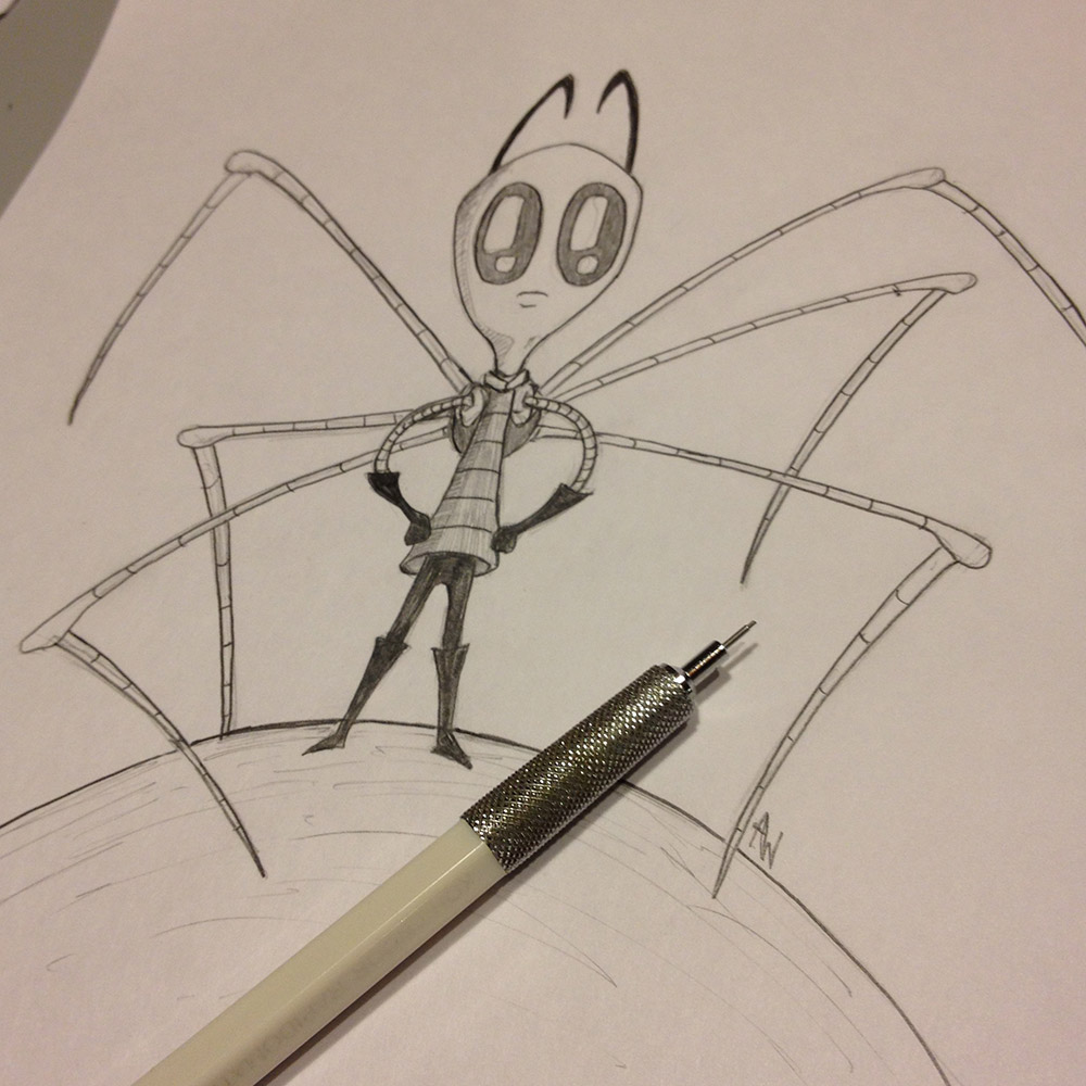 Invader Zim Pencil Sketch Of Doom