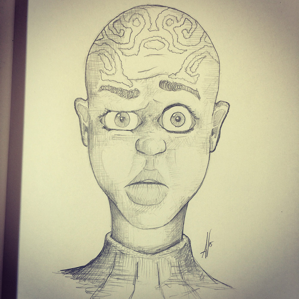 Dazed and Confused Alien - Pencils