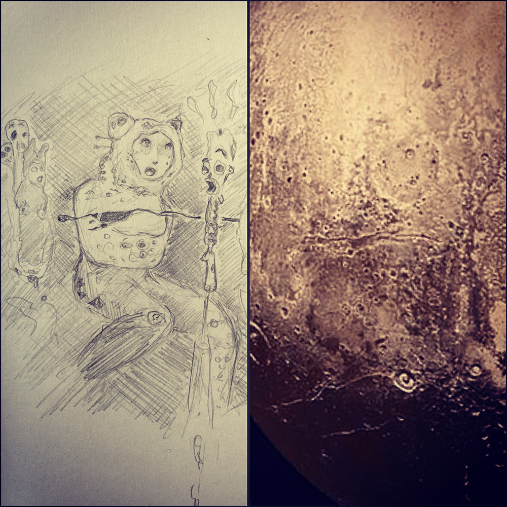The Woman Of Pluto - Side by Side
